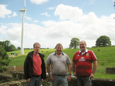 Resilience Centre Piers Chivers of Dfrib Group with turbine
