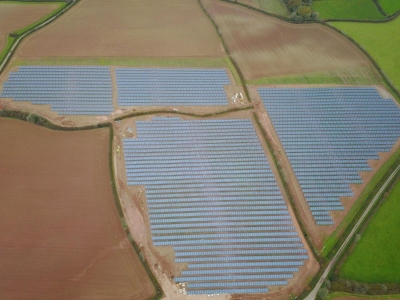 Newton Downs Solar Farm Completed 2019 from Yealm Community Energy